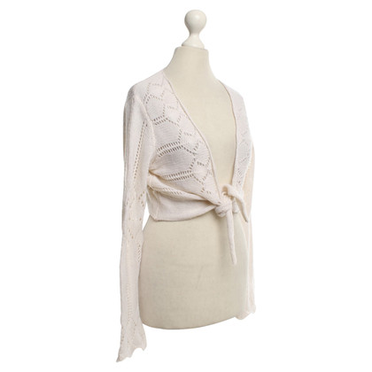 FTC Wickel-Strickjacke in Creme