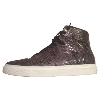 Kennel & Schmenger Graue High-Top Sneaker mit Python Print