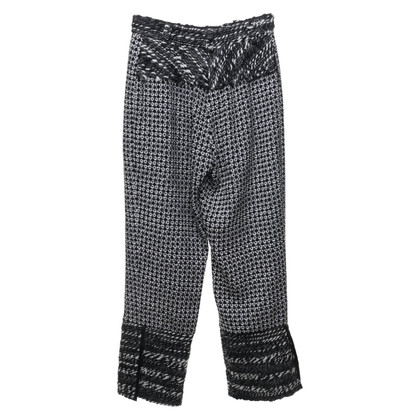 Nina Ricci Patterned trousers in black and white