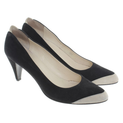 Jil Sander pumps in zwart / beige