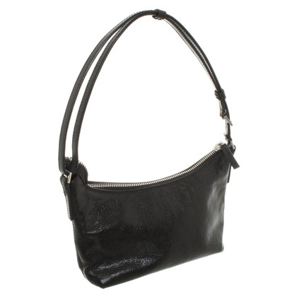 René Lezard Small shoulder bag in black