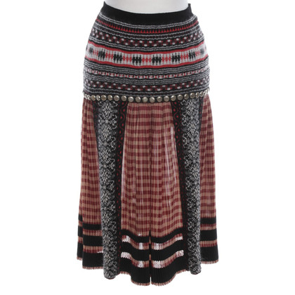 Jean Paul Gaultier Pleated skirt with pattern