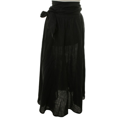 Max Mara Linen skirt in black