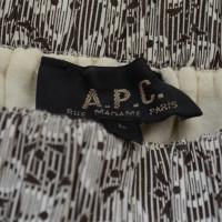 A.P.C. Gonna con motivo floreale
