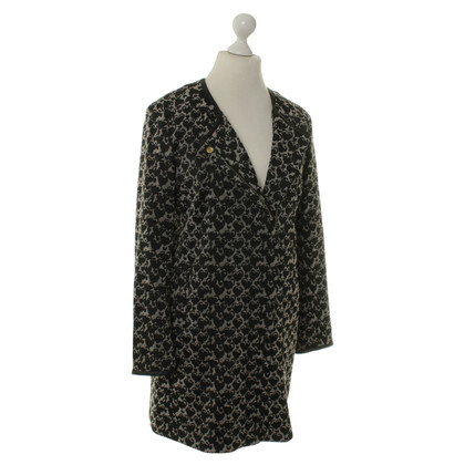 René Lezard Short coat black/beige