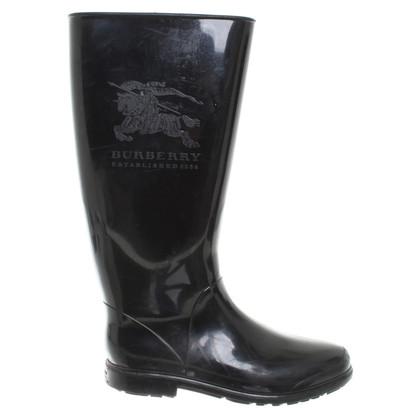 Burberry Rubberen laarzen in zwart