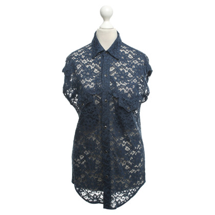 Toga Pulla Lace blouse in blauw