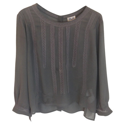 Baum und Pferdgarten Silk blouse in Khaki