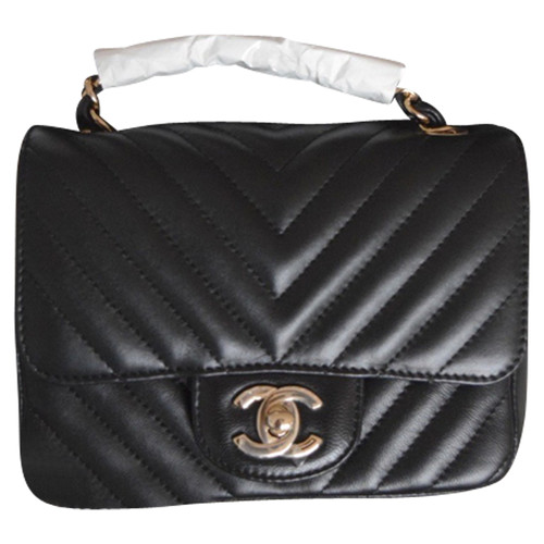 64d7b3c03fef15 Chanel 2.55 Leather in Black - Second Hand Chanel 2.55 Leather in ...