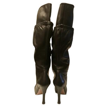 Prada Boot in zwart leer Prada