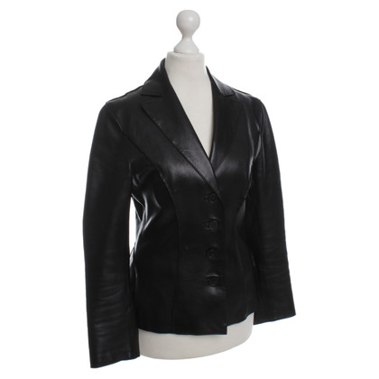 Alberta Ferretti Leather jacket in black