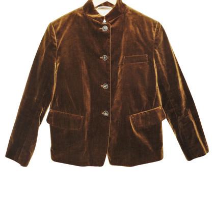 Jil Sander Brown velvet jacket