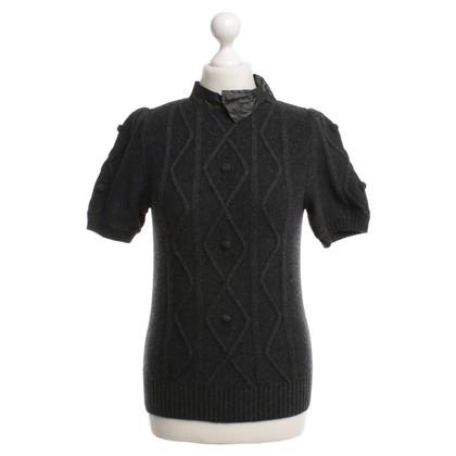 Moschino Kurzarm-Pullover in Grau
