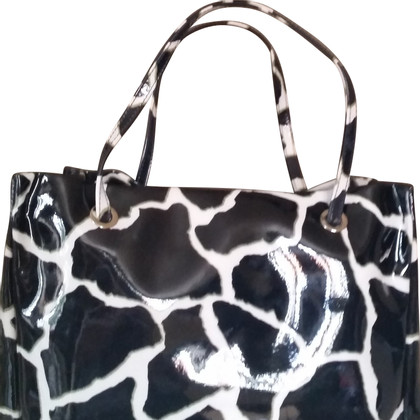 Roberto Cavalli Shopper with zebra pattern