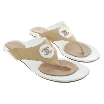 Chanel Sandals in beige / white