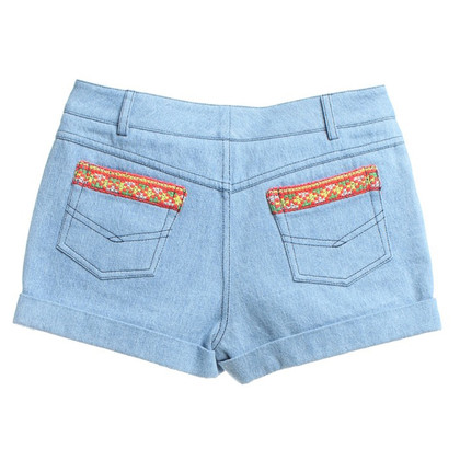 Thu Thu Jeansshorts in light blue