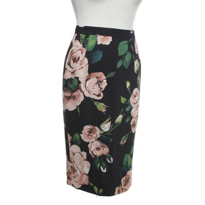 Dolce & Gabbana Gonna con motivo a rosa