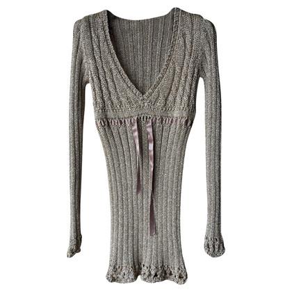 Twin-Set Simona Barbieri Gold knit dress