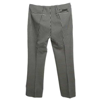 Prada Pantaloni con pattern plaid