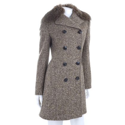 Dolce & Gabbana Tweed coat with fur collar
