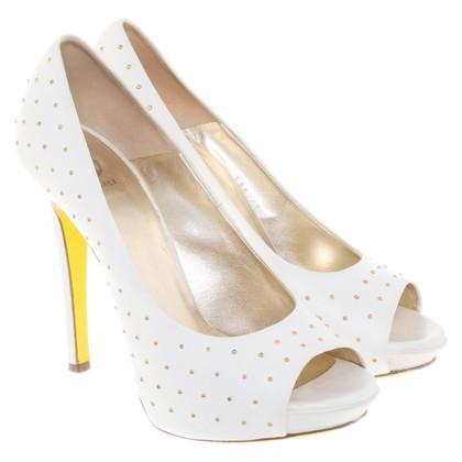 Versace Peep-toes in white
