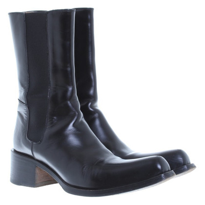 Gianni Barbato Chelsea laarzen gemaakt van leer