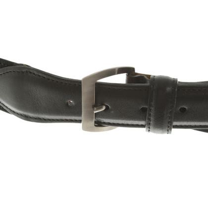 Giorgio Armani Cintura in pelle in Black