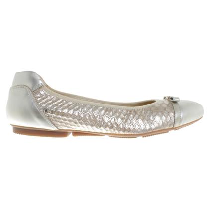 Hogan Silver-colored ballerinas