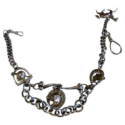 Hermès catena d'argento d'epoca