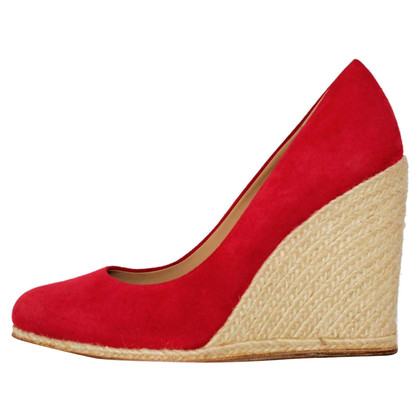 Salvatore Ferragamo Suede wedge shoe
