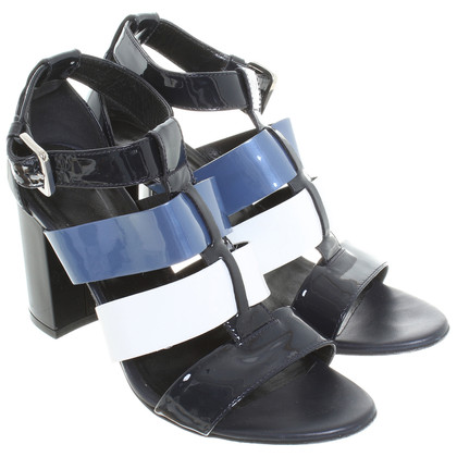 Hogan Sandal in white/black/blue