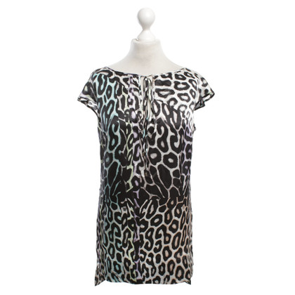 Just Cavalli top in seta con stampa animalier