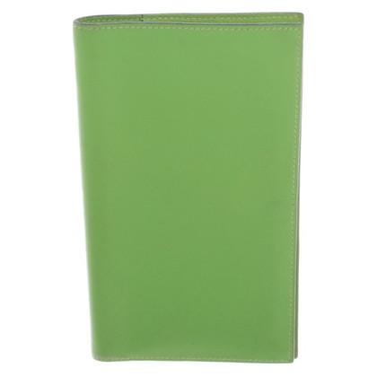 Hermès Hellgrüne Agenda aus Leder