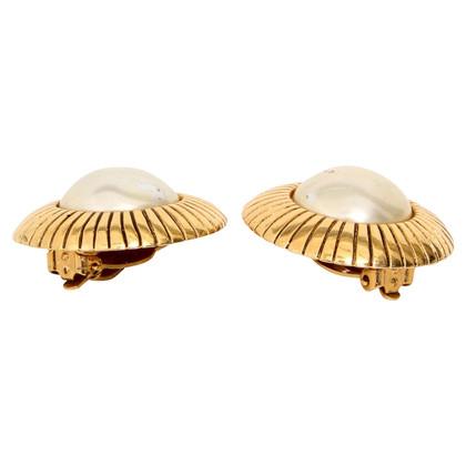 Chanel clip orecchio color oro