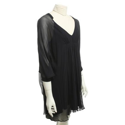 Diane von Furstenberg zijden jurk in donkerblauw