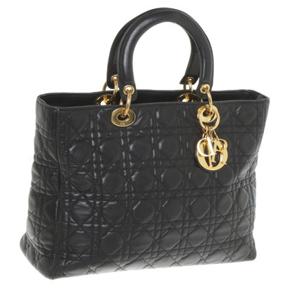 Christian Dior Lady Dior Large in black