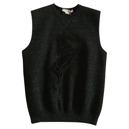 Stella McCartney Black gilet with sketch 40 IT