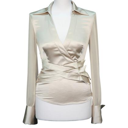 Karen Millen Zijden blouse in goud