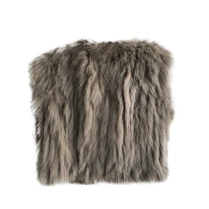 Schumacher Fur vest in Taupe
