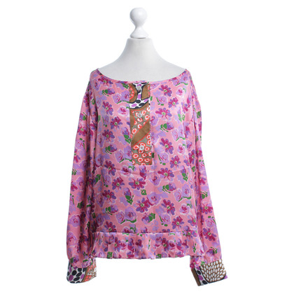 Other Designer Duro Olowu - silk blouse with floral print