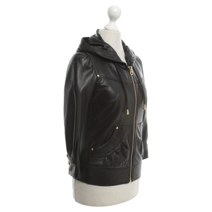 Juicy Couture Lederjacke in Schwarz