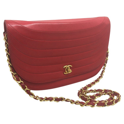 Chanel Rote Lederclutch