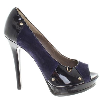 Versace Peeptoes in Violet