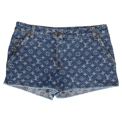 Louis Vuitton Shorts en denim monogramme