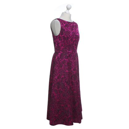 Badgley Mischka Dress in fuchsia / black