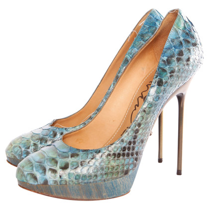 Lanvin pumps Python leather