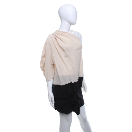 Vionnet Blouse in beige / black
