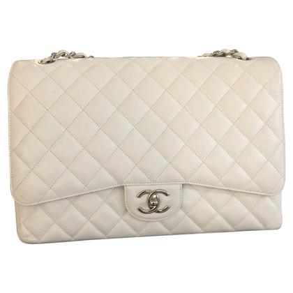 "Chanel ""Jumbo Flap Bag"" in white"