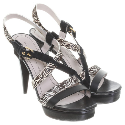 Marc by Marc Jacobs Platform sandals with animal print