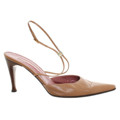 Sergio Rossi Lederen pumps in oker